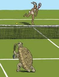 Thi đấu tennis với tay vợt có nhiều sức mạnh